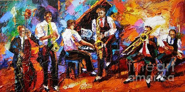 Jazz Bands Painting - Jazz Bands Fine Art Print | beautiful in 2019