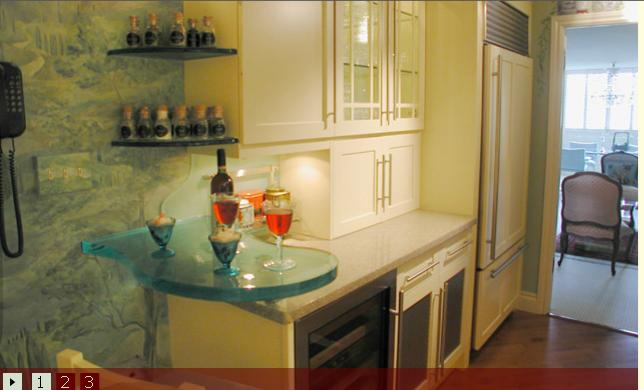 mini bar table next 2 fridge  kitchen inspirations