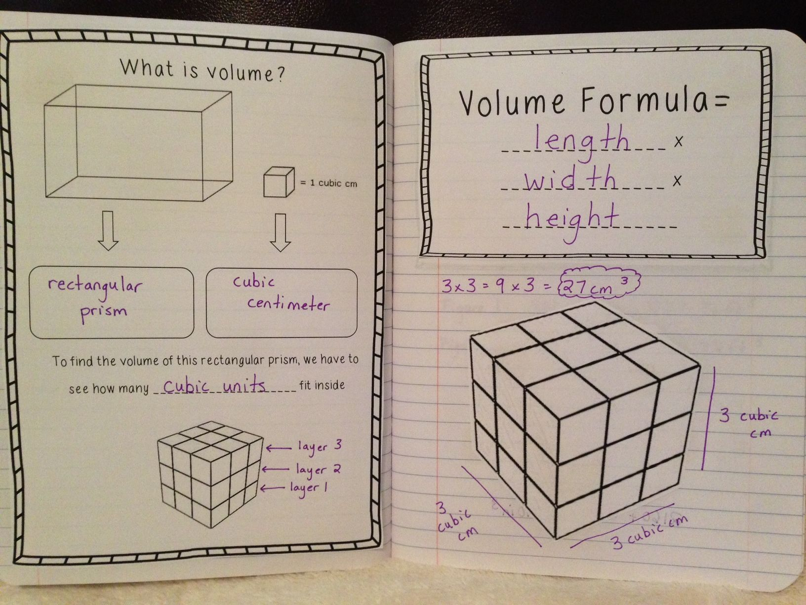 hight resolution of Teaching students about volume: interactive notebook ideas.   Math  interactive notebook