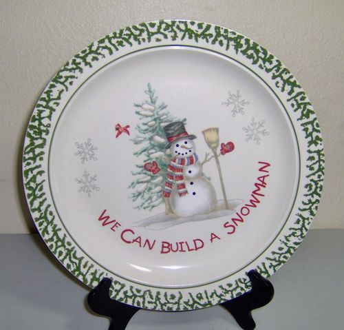 Dinner Plate We Can Build A Snowman Christmas Holidays Snowman & Exciting We Can Build A Snowman Dishes Contemporary - Best Image ...