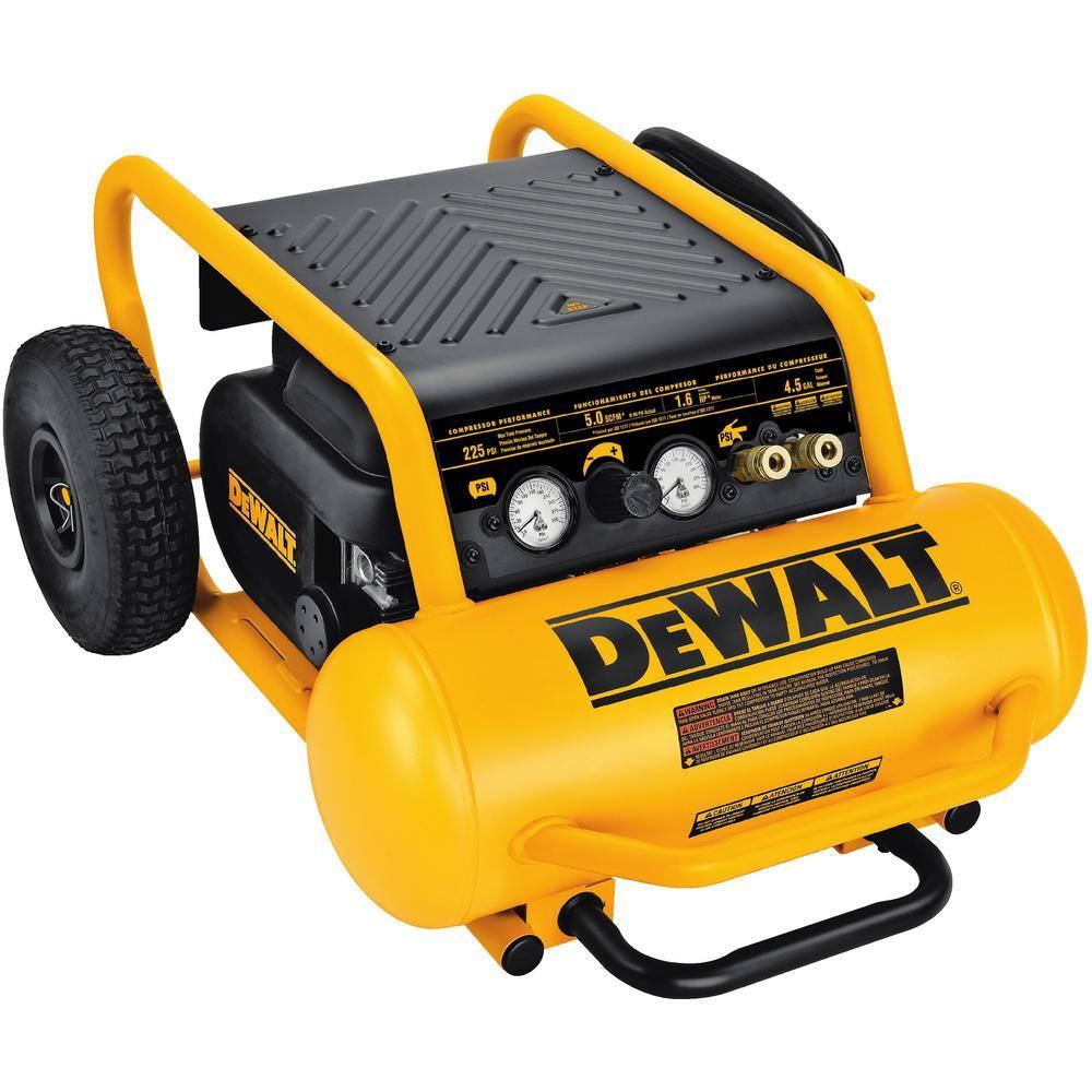 DEWALT 4.5 Gal. Portable Electric Air CompressorD55146