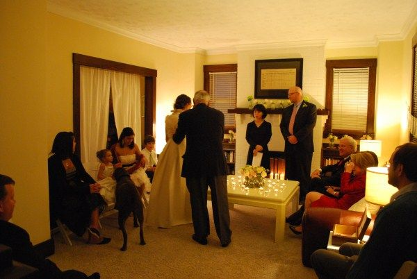 Tricia And Mark Married In 2020 Wedding Living Small Weddings Ceremony Home Wedding