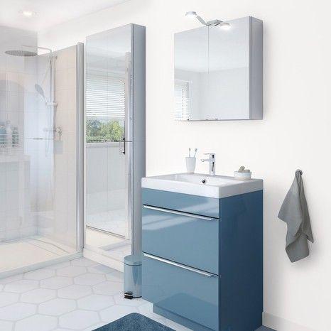 Meuble Sous Vasque A Poser De Couleur Bleu Serie Imandra Salle