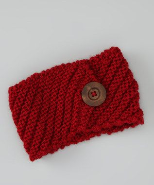 Red Button Head Wrap