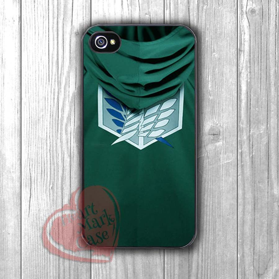 Attack on Titan Scouting Legion Levi rivaille Cloak -Lx for iPhone 4/4S/5/5S/5C/6/ 6+,samsung S3/S4/S5,samsung note 3/4