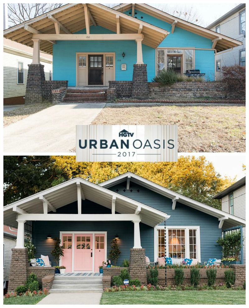 Craftsman Bungalow Before & After: HGTV's Urban Oasis Giveaway 2017
