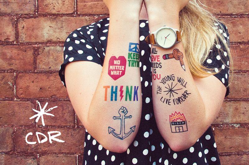 Christopher david ryan pack of 8 inkd temporary tattoos