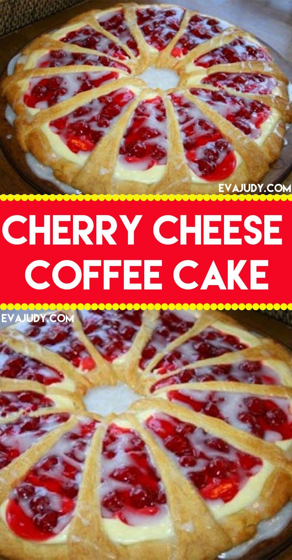 Cherry cheese coffee cake in 2020 coffee cake cherry