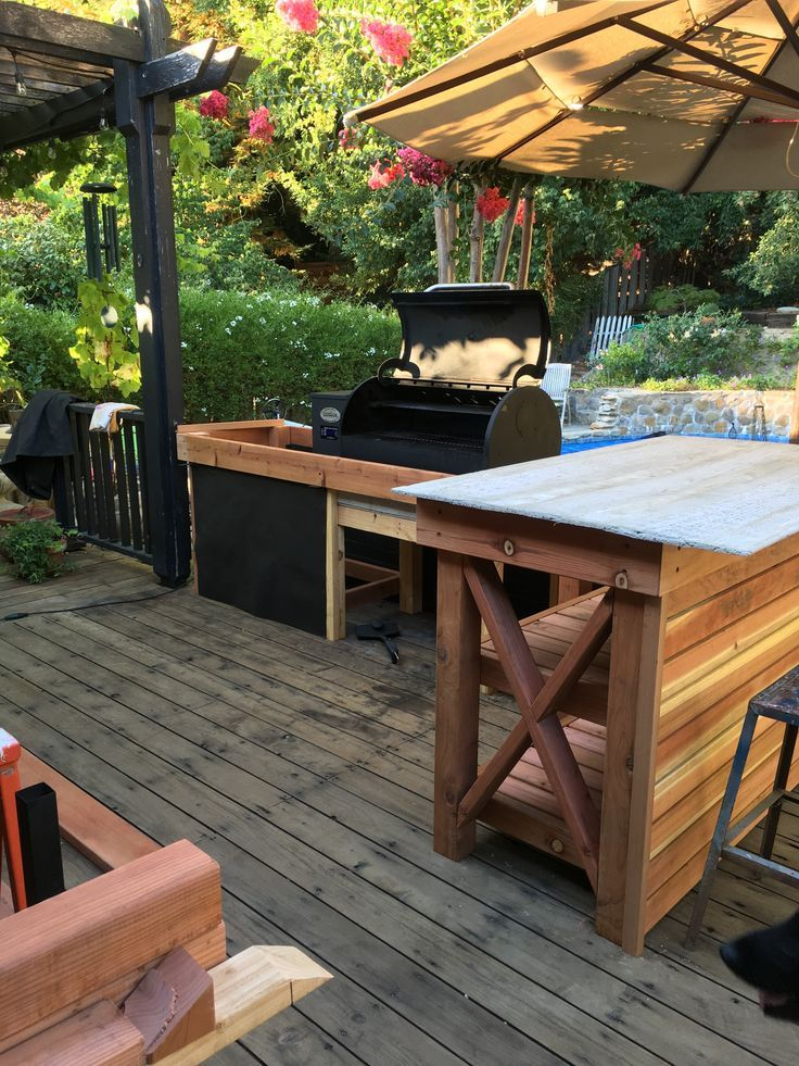 Diy Outdoor Kitchen Smoker Outdoor Kitchen Pinterest