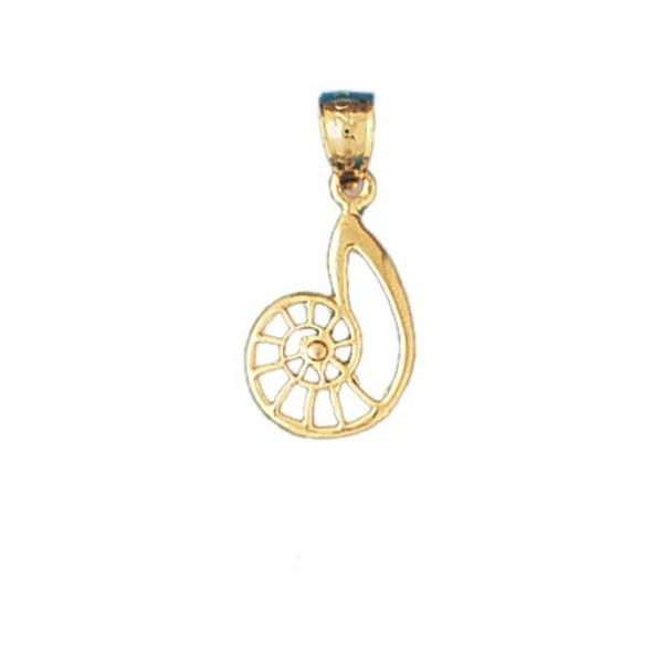 14K GOLD NAUTICAL CHARM SHELL 326 liked on Polyvore featuring
