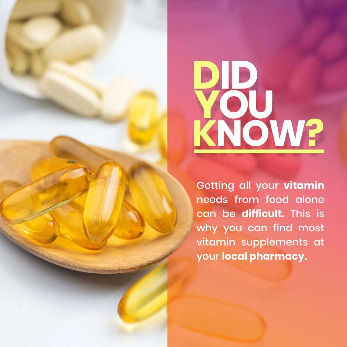 Did You Know? Vitamin SaveNCarePharmacy All vitamins
