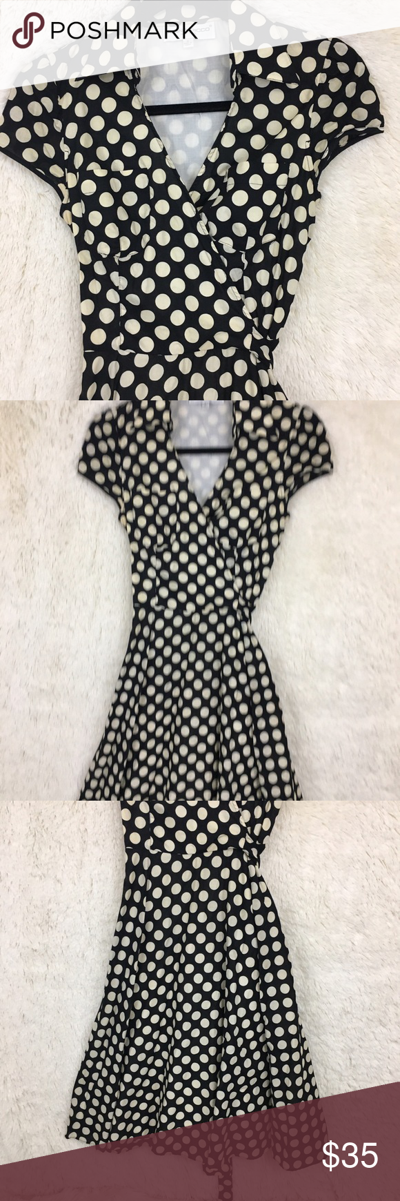 Donna ricco polka dot dress cap duagde keys and dots