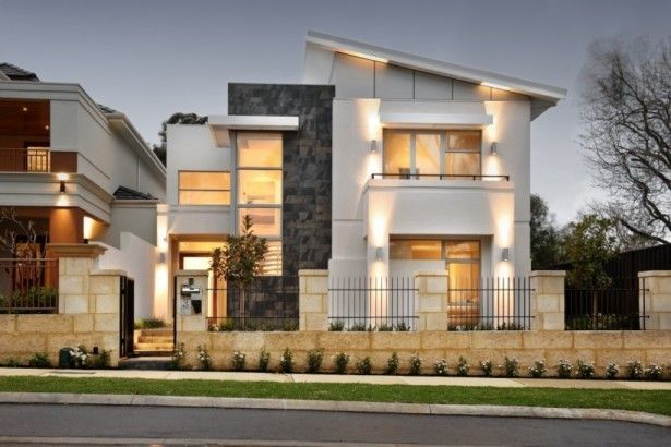 Modern-Iron-Fence-Designs-with-Stunning-Architectural-Lighting- & Modern-Iron-Fence-Designs-with-Stunning-Architectural-Lighting-and ...