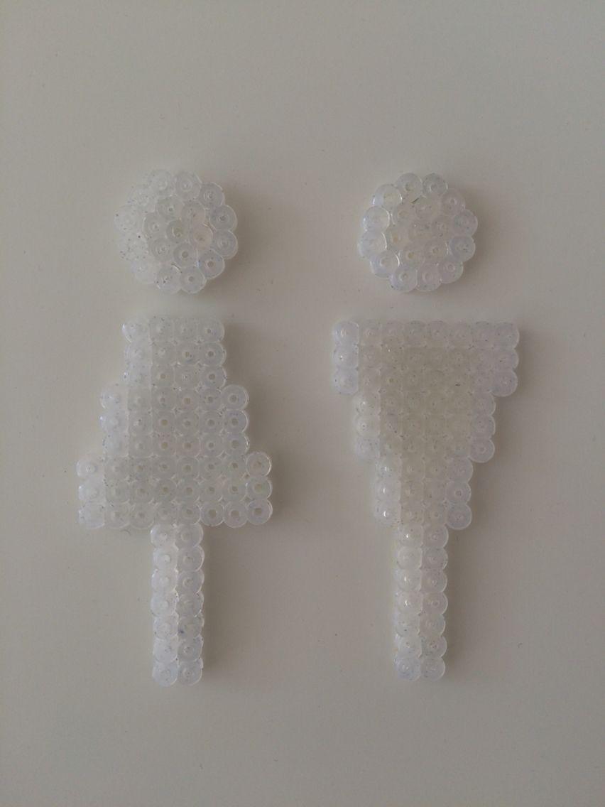 Toilet sign Hama beads