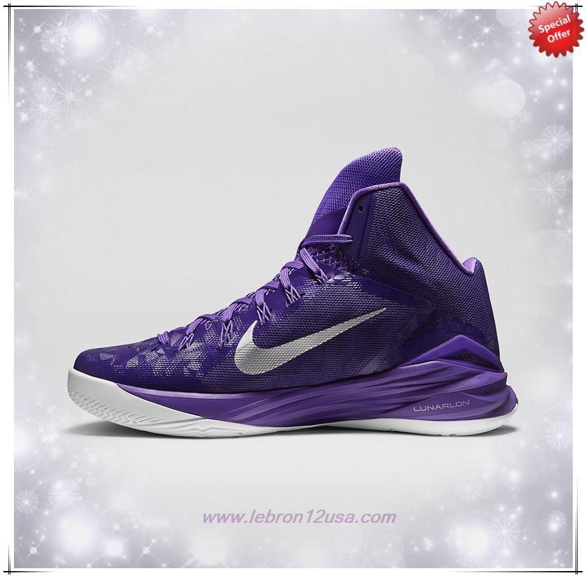 Mens 653483-505 Court Purple/Purple Venom/White/Metallic Silver Nike  Hyperdunk · Basketball Shoes ...