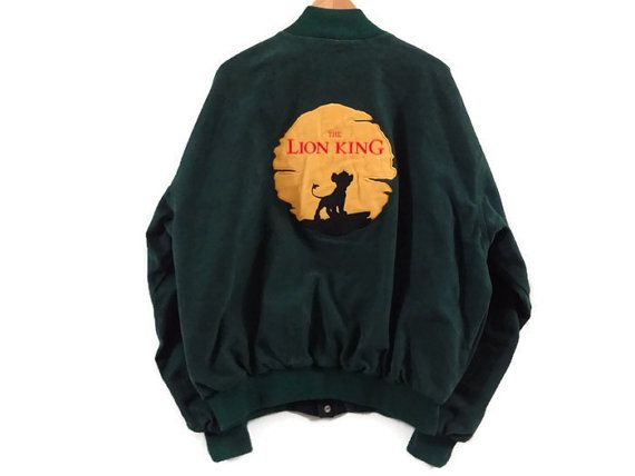 Vintage 1994 Lion King Bomber Jacket - XXL - Walt Disney Promotional Jacket  - 90s - Rare - Disney Animation - Film Crew Jacket - 1990s - 4b0c33df3c83f