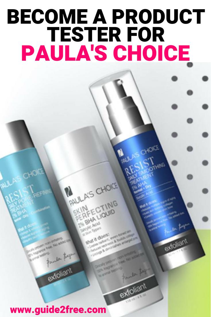 a Product Tester for Paula's Choice Skincare