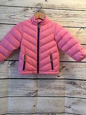 Hanna Andersson Sz 100 ( 4 ) Jacket Down Coat EUC Pink