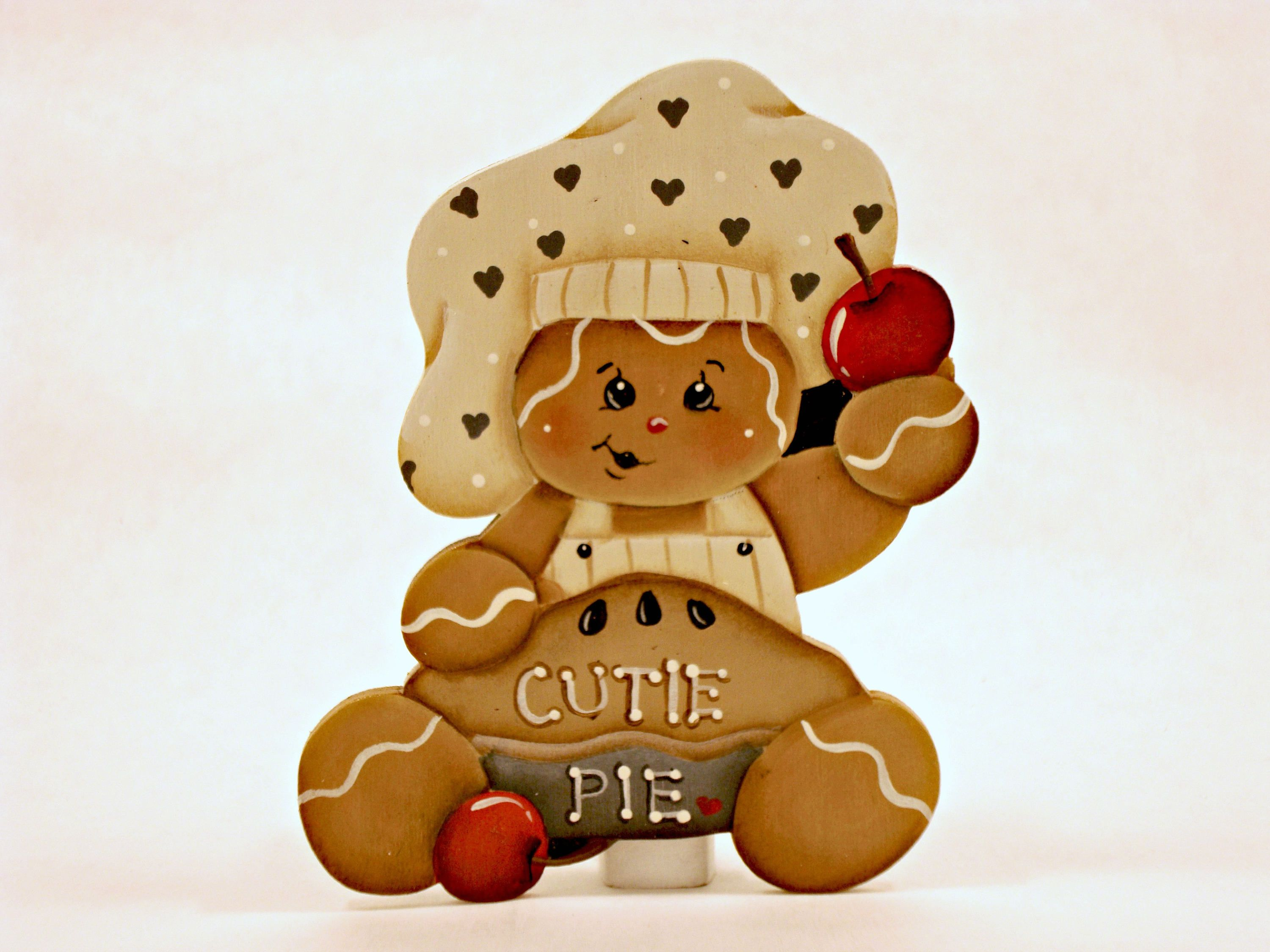 Cutie Pie Gingerbread, Item #CPH151, Gingerbread Fridge Magnet and ...