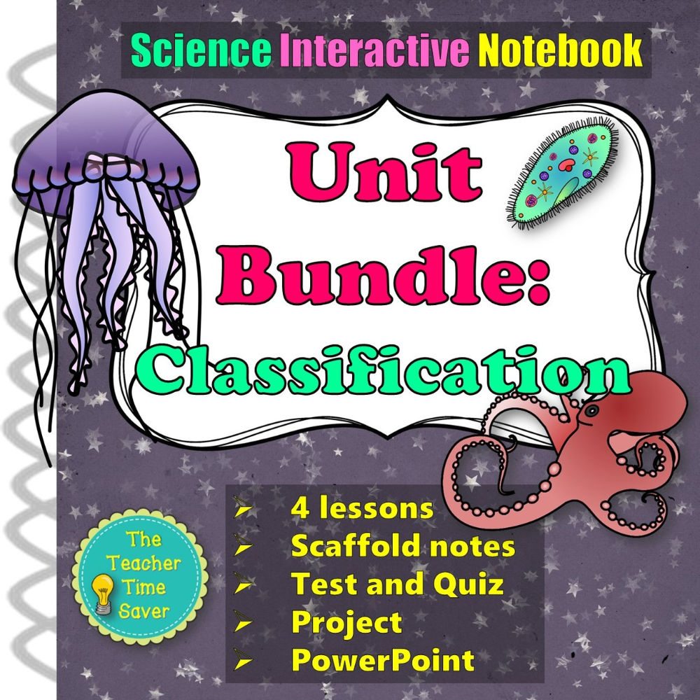 Classification Of Living Things Biology Bundle Dichotomous Key Interactive Notebooks Interactive Science Notebook Reflection Activities [ 1000 x 1000 Pixel ]