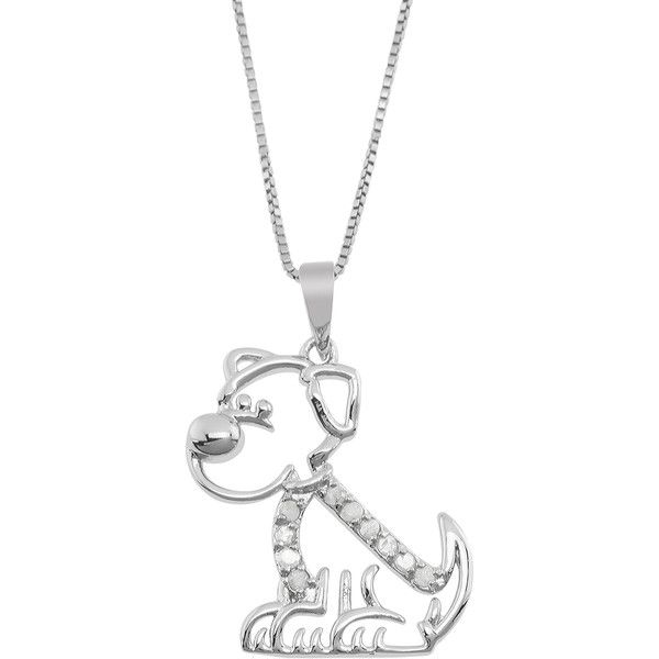 Jewel exclusive sterling silver diamond dog pendant 30 liked jewel exclusive sterling silver diamond dog pendant 30 liked on polyvore featuring jewelry mozeypictures Gallery
