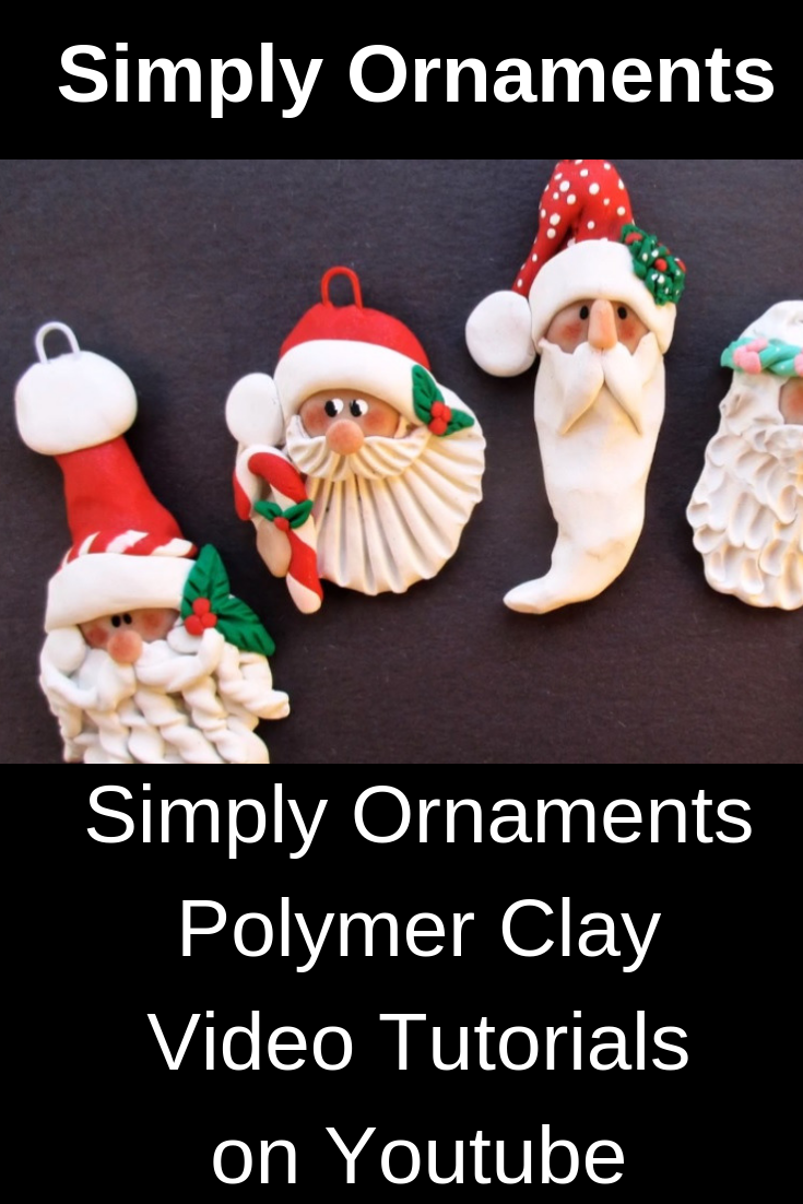 Polymer Clay Santa Heads Christmas Ornaments Clay Christmas Decorations Christmas Clay Polymer Clay Ornaments