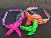 NEON Pink Bandana Knot Stirnband Krawatte Stirnband Bandanna Haarband