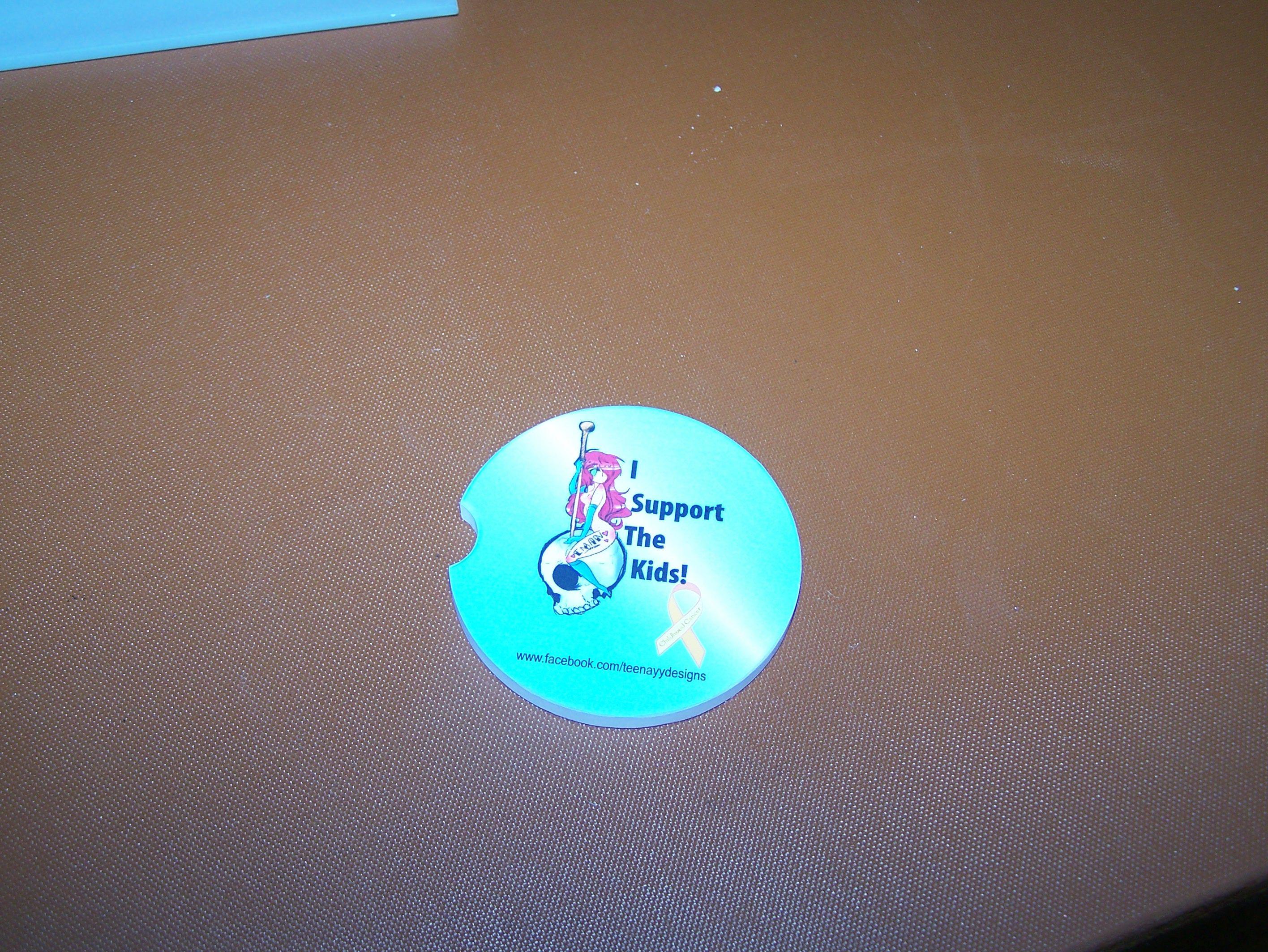 personalized car coaster, design your own at www.customrpinteddominoes.com