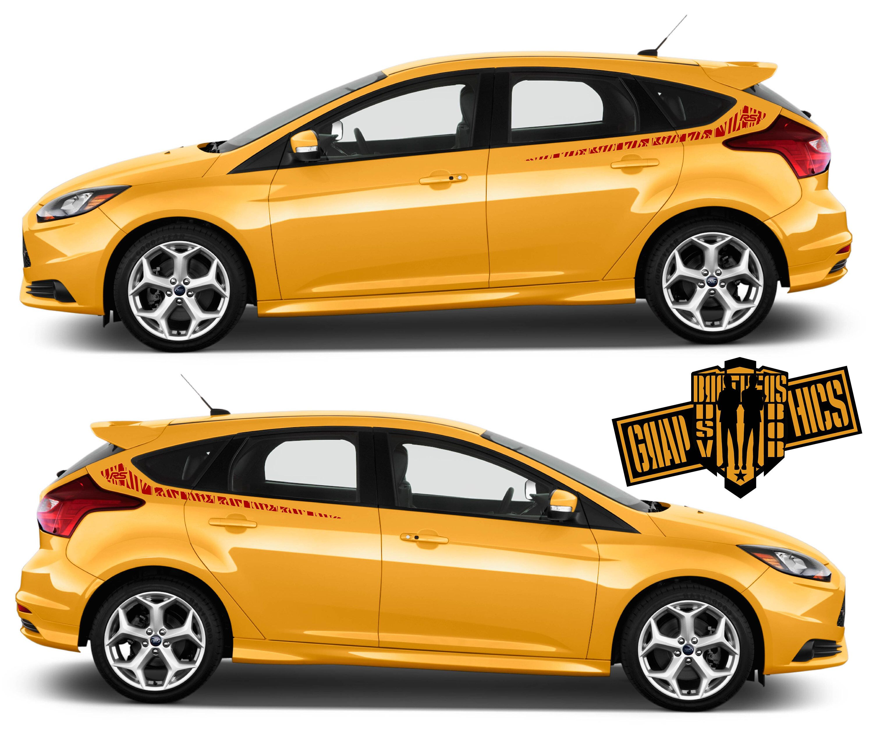 Side Door Stripe Vinyl Decal Graphic Sticker Kit For Ford Etsy Vinyl Car Stickers Ford Focus St Sticker Kits