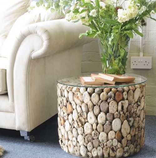Peachy Round Driftwood Side Table With Glass Top Combines Natural Uwap Interior Chair Design Uwaporg