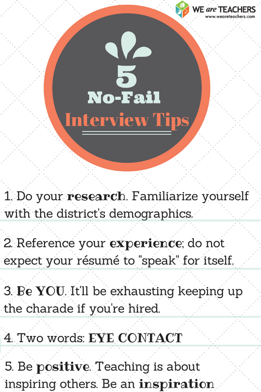 High Quality Interview Tips And One Teacheru0027s Story Of How To Get That First ... Intended For First Interview Tips