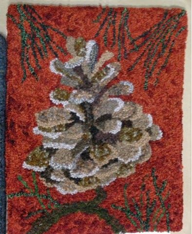 pine conehow awesome Love it! Traditional Rug hooking \ Punch