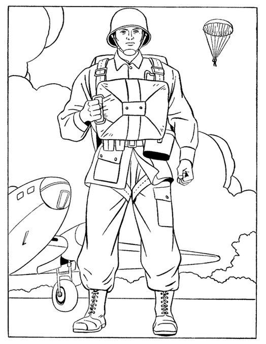 Army Man Veterans Day Coloring Page Coloring Pages Coloring