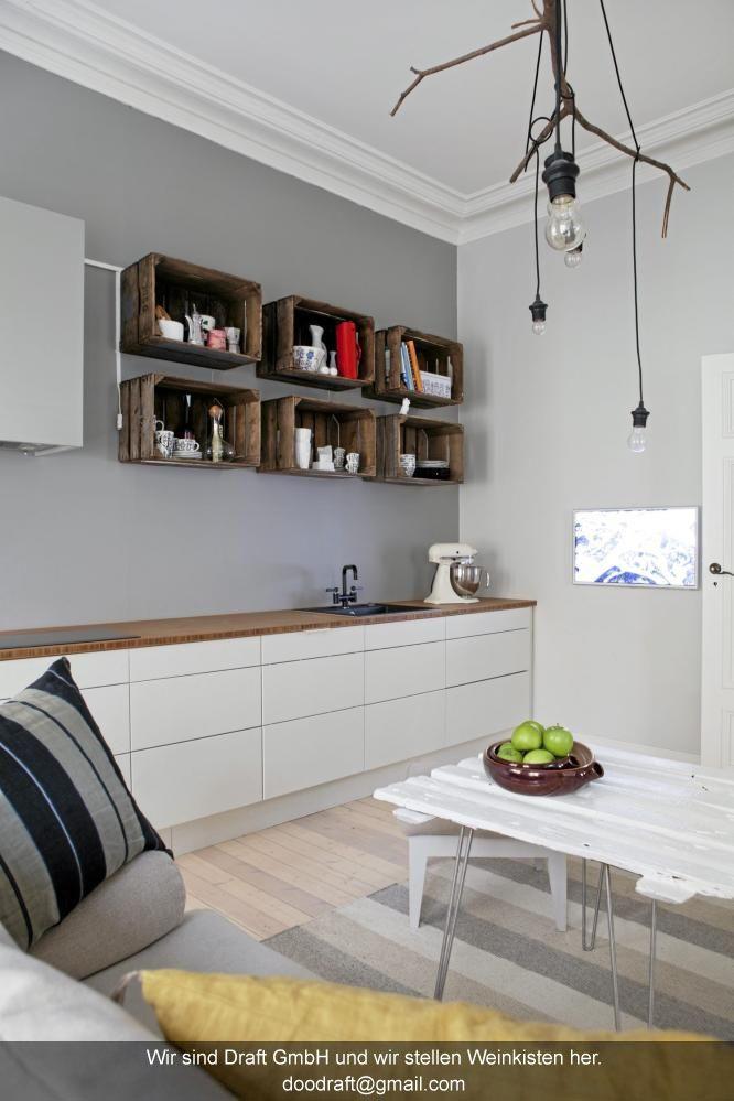 Küchenregal aus Weinkisten Zukünftige Projekte Pinterest - k chenregal mit beleuchtung