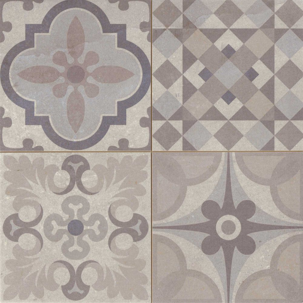Carrelage Style Ciment Gris Taupe Skyros 44x44 Cm As De Carreaux