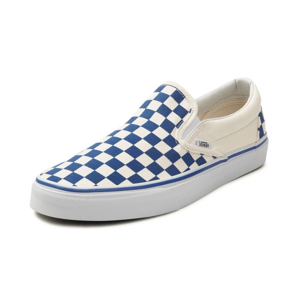 0c245f4210ade9 NEW Vans Slip On Chex Skate Shoe Blue Checkers Checkerboard Men s Sizes   fashion  clothing  shoes  accessories  mensshoes  athleticshoes (ebay link)