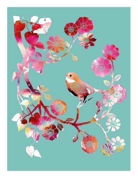 Little Robin (robin's egg blue). #art #print