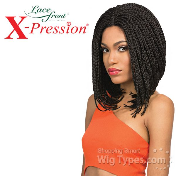 Outre Synthetic Lace Front Wig X Pression Box Braid Small Bob 10410