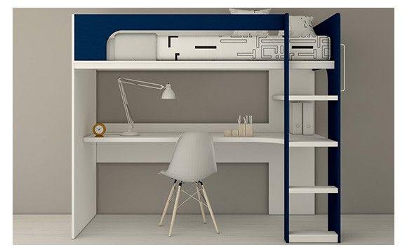 Lit superposé lit mezzanine avec bureau pour chambre d enfant et