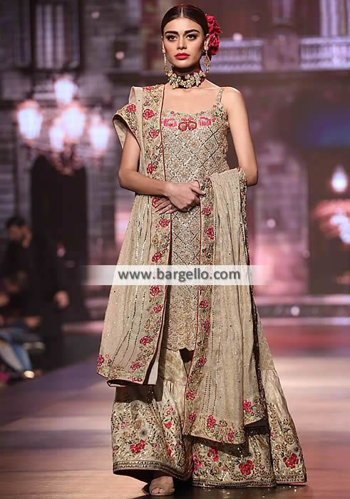 Sophisticate Wedding Gharara Yasmeen Zaman Bridal Collection BCW 2016