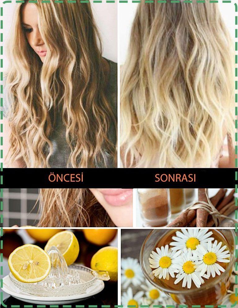 Doğal Saç Rengi Açma Yöntemleri #saçgüzelliği
