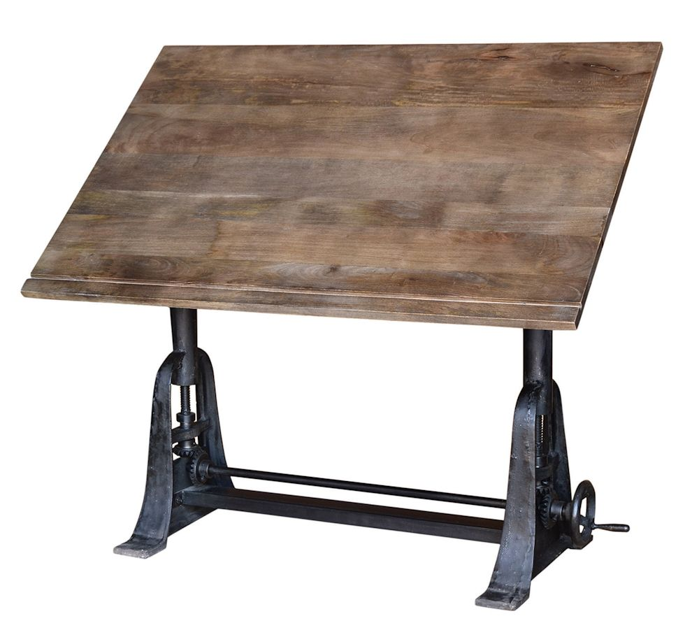 Four Hands Rockwell Rockwell Bell Curve Drafting Table Wood Drafting Table Antique Drafting Table Vintage Drafting Table