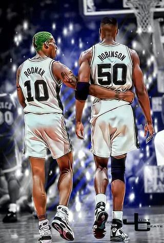 Spurs Dennis Rodman David Robinson Graphic By Just Create Sports Edits Dennis Rodman David Robinson Sports