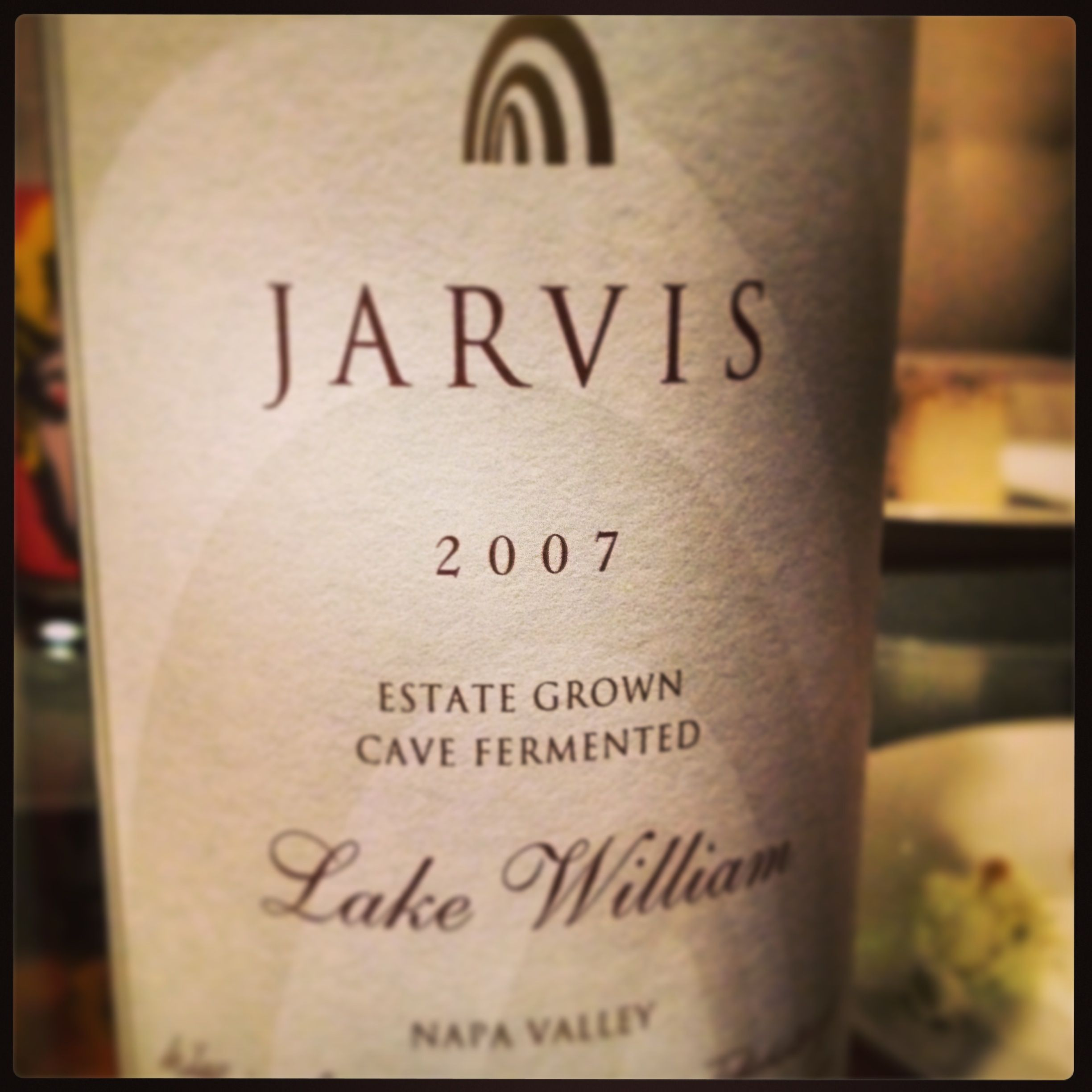 2007 Jarvis Lake William red blend (39% CS, 38% Merlot, 21% CF, 2%PV)  a very rich Napa blend with lots of flash, but substance of length and depth.