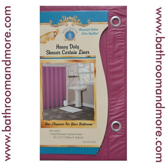 Burgundy Red Vinyl Shower Curtain Liner.
