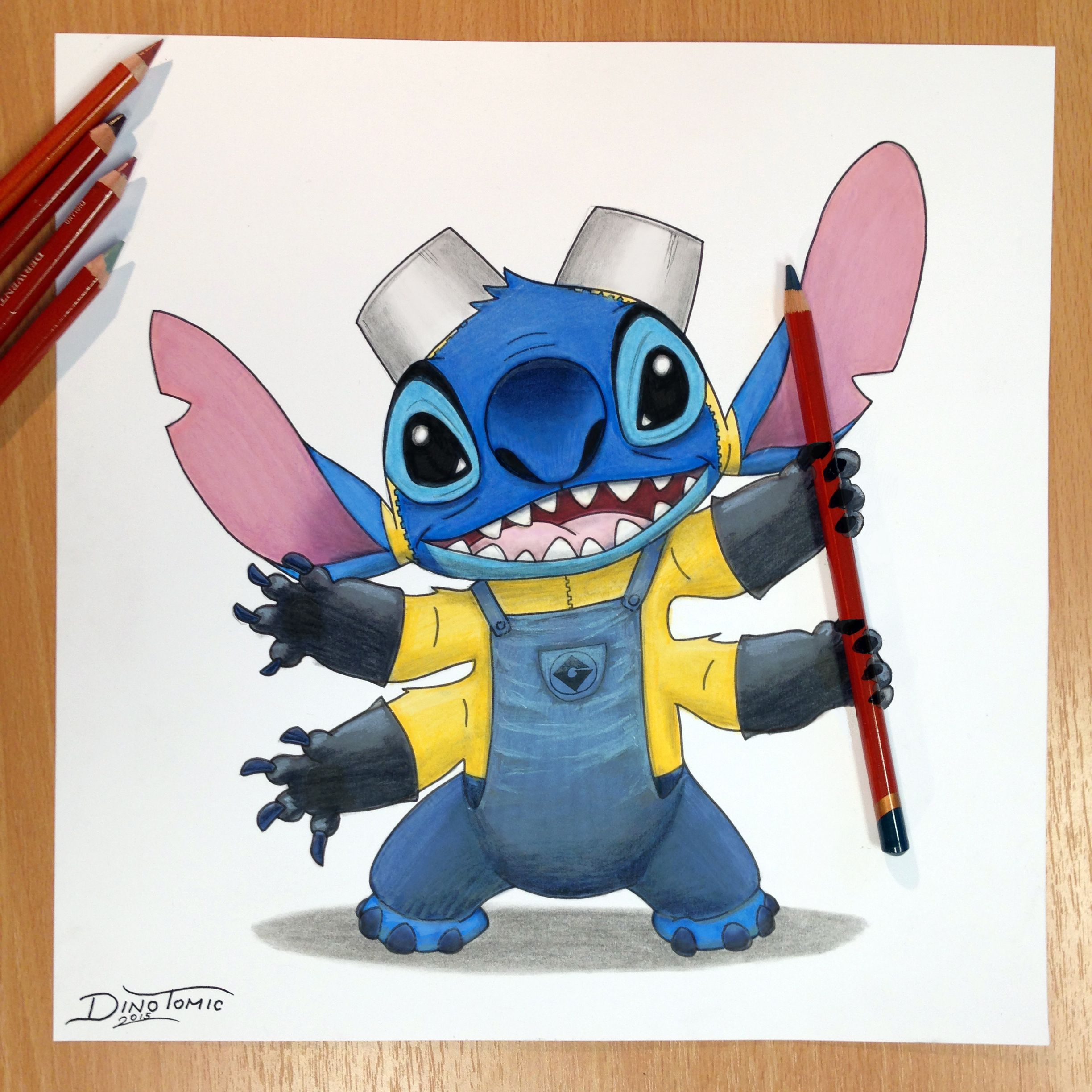 Stitch + Minion Pencil Drawing by AtomiccircuS on ...