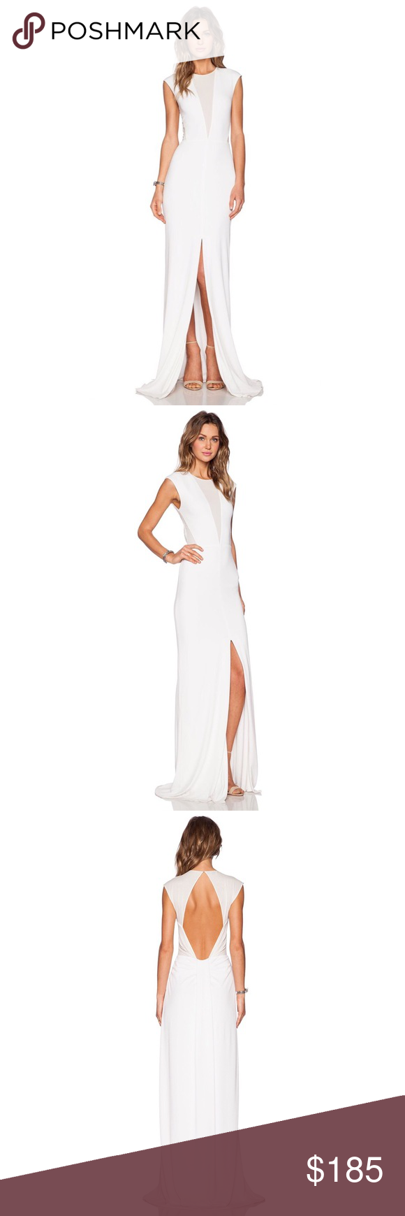 Rachel zoe amara sheer inset maxi dress pure white nwt pinterest