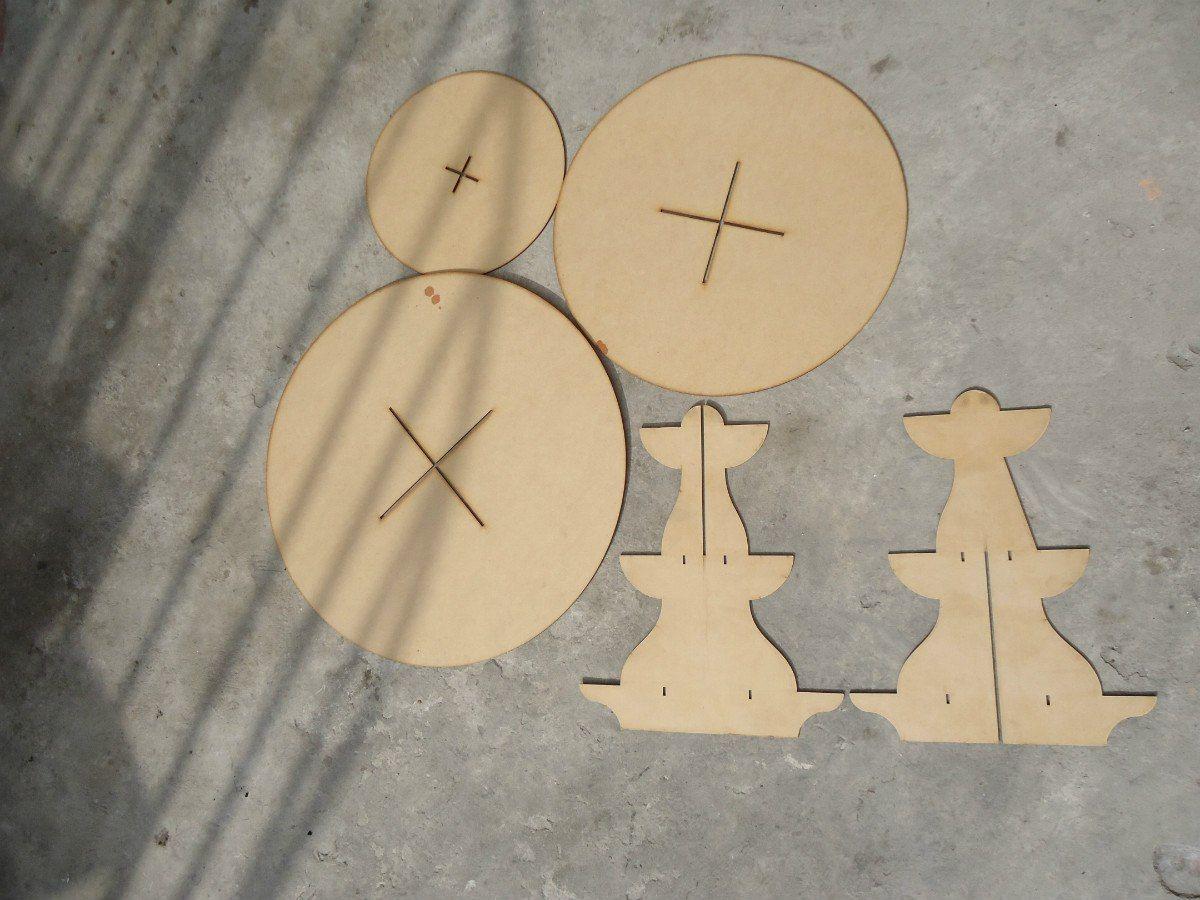 Base para cup cupcakes en madera de mdf conos etc cakepins - Bases para cupcakes ...