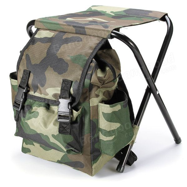 Fishing Chair Outdoor Portable Folding Stool Backpack
